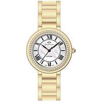 Часы наручные женские Continental 16103-LT202511 кварцевые на браслете, позолота, индикатор заряда батарейки