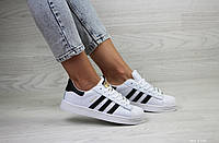 Кроссовки женские Adidas Superstar в стиле Адидас Суперстар белые
