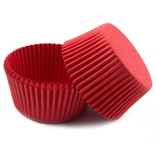 Форма паперова для цукерок червона 50 шт