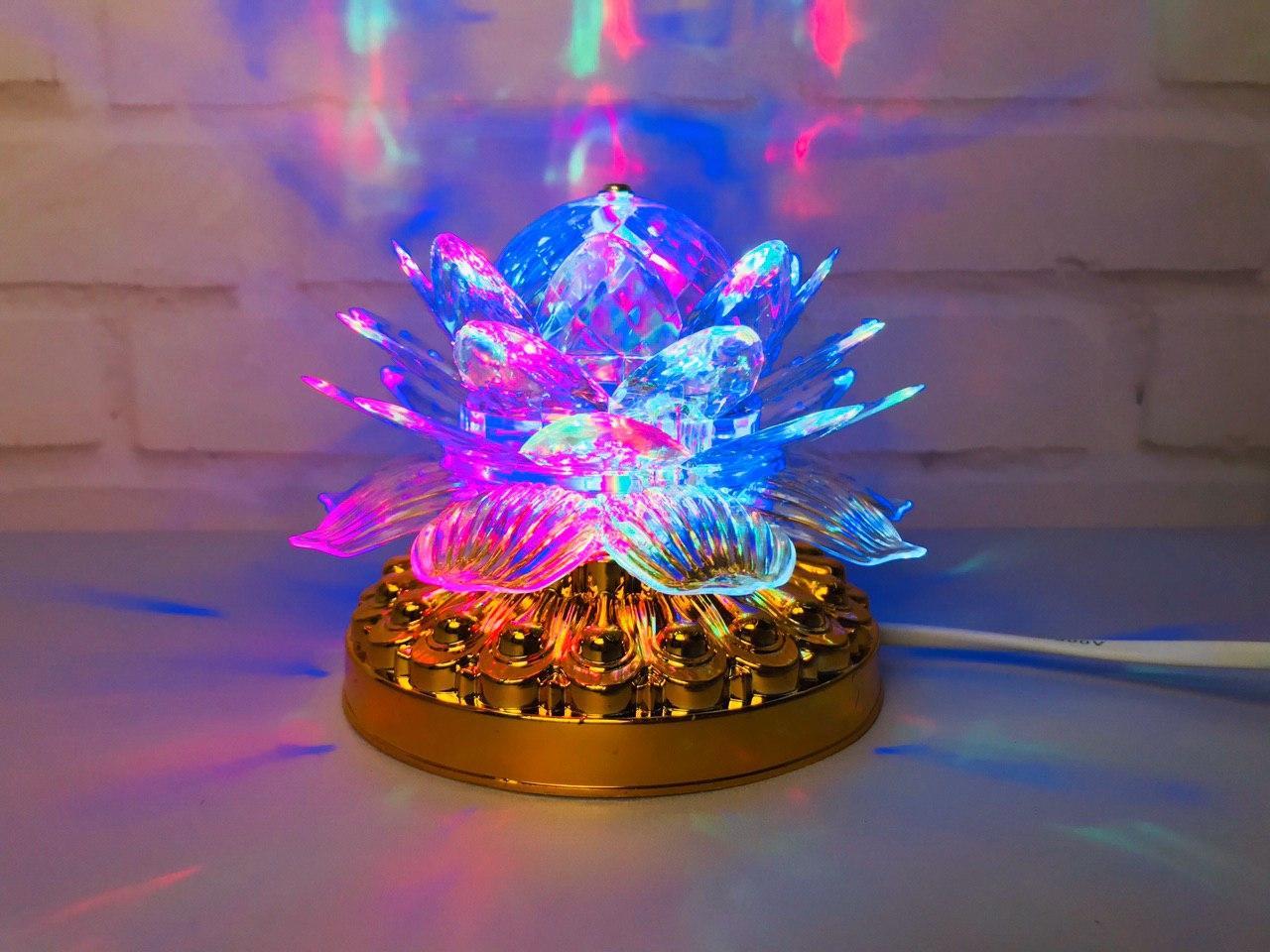Яркая, Вращающаяся диско лампа Led full color rotating lamp светодиодная G 0073