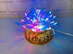 Яркая, Вращающаяся диско лампа Led full color rotating lamp светодиодная G 0073, фото 3