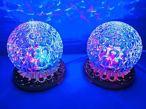 Яркая, Вращающаяся диско лампа Led full color rotating lamp светодиодная G 0076., фото 2
