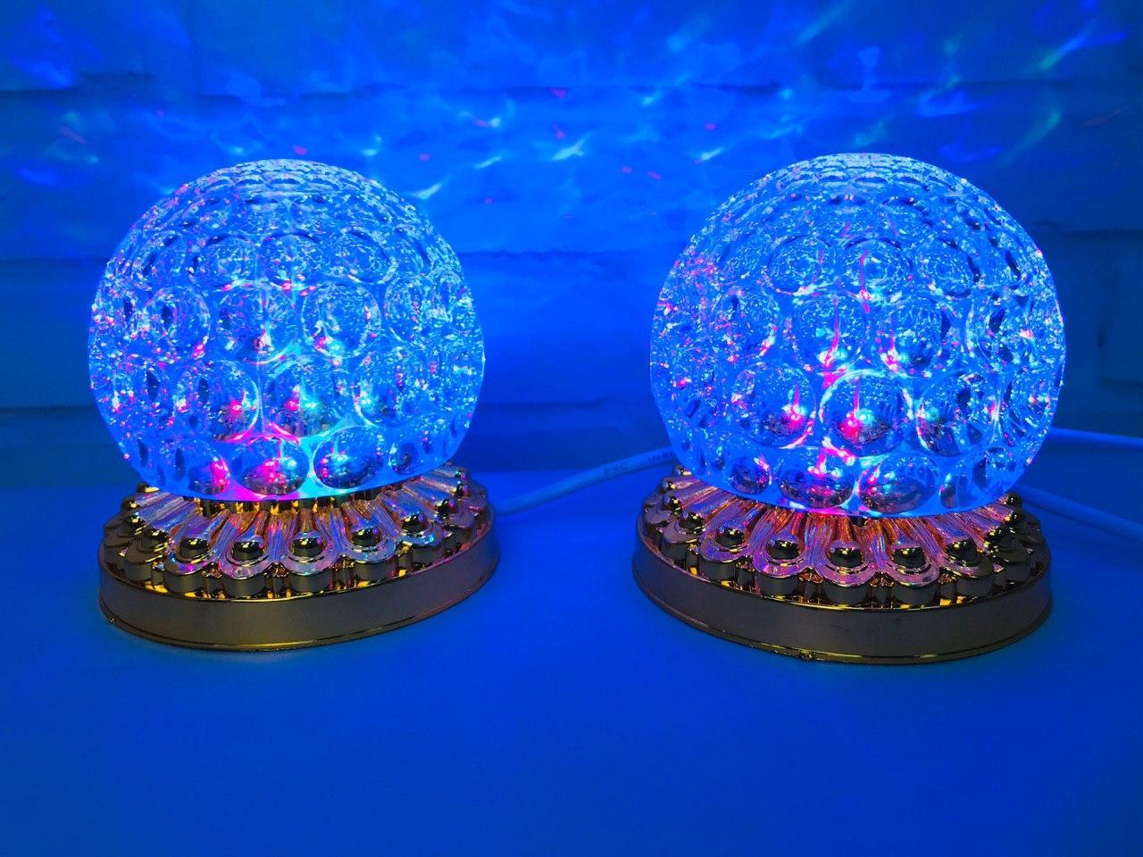 Яркая, Вращающаяся диско лампа Led full color rotating lamp светодиодная G 0076.