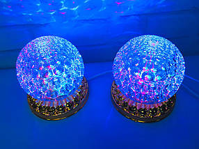 Яркая, Вращающаяся диско лампа Led full color rotating lamp светодиодная G 0076., фото 3