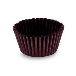 Форма бумажная для конфет коричневая 50 шт