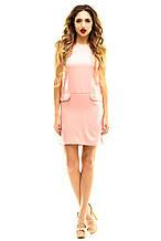 Платье 337 розовое 46