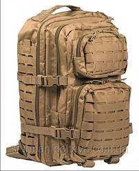 Рюкзак армейский тактический  US ASSAULT PACK LG LASER CUT COYOTE  койот 36литров  MIl-Tec   Германия