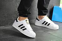 Кроссовки мужские Adidas Superstar в стиле Адидас Суперстар белые