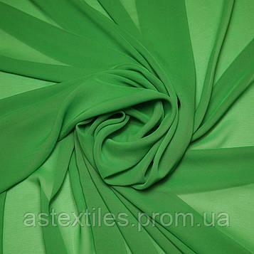 Шифон одежний однотонний (зелений)