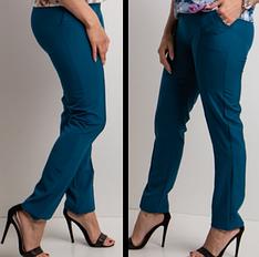 Легкие брюки с карманами в большом размере размеры от 62 до 68