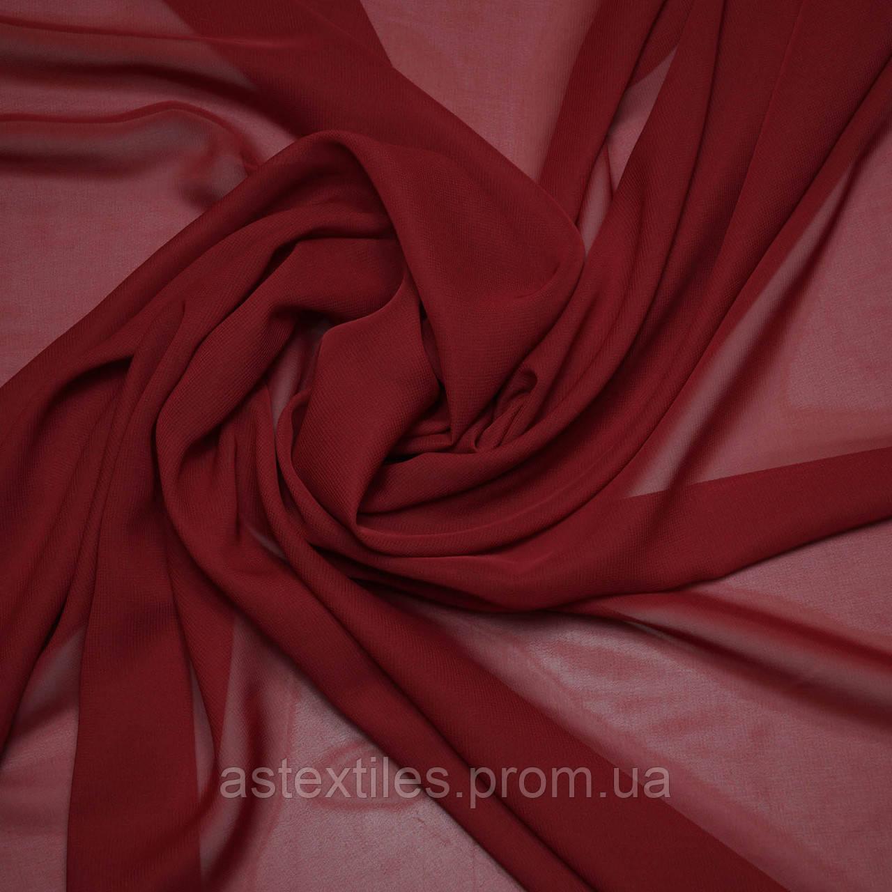 Шифон одежный однотонный (светло-бордовый)