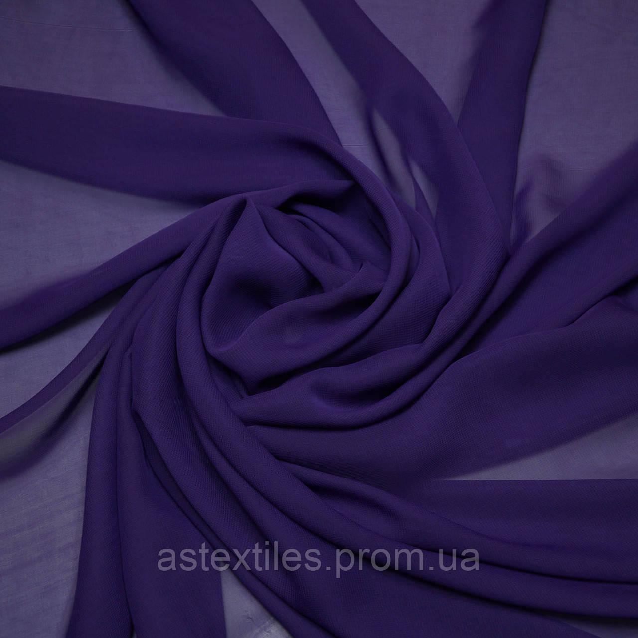 Шифон одежный однотонный (фиолетовый)