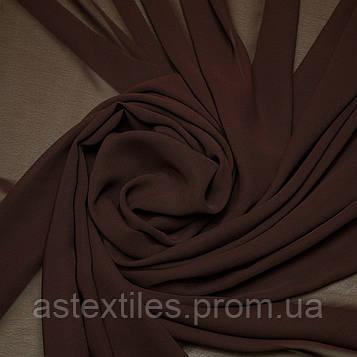 Шифон одежний однотонний (коричневий)