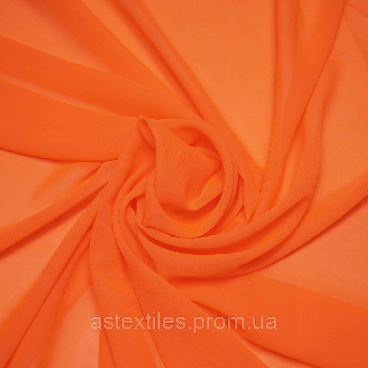 Шифон однотонний (помаранчевий)
