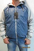 Мужская спортивная куртка Remain 7154-1  синяя с серым код 239б