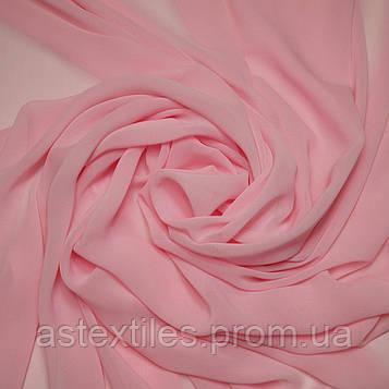 Шифон одежний однотонний (рожевий)