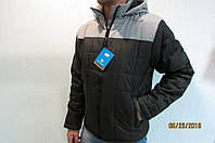 Мужская спортивная куртка Remain 0205  серая с черным код 240б