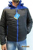 Мужская спортивная куртка Remain А-179 синяя с черным код 242б