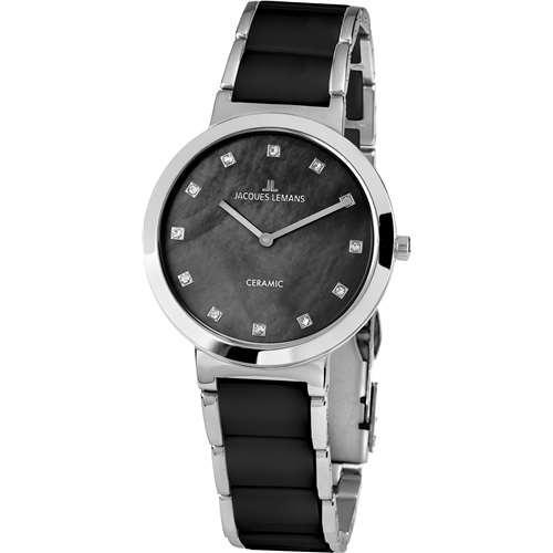 Часы наручные женские  Jacques Lemans 1-1999E кварцевые, на стальном браслете, Австрия