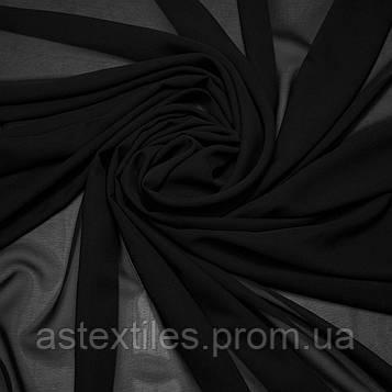 Шифон одежний однотонний (чорний)