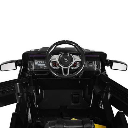 Электромобиль для детей Bambi M 2788EBLRS-2 черный кожаное сиденье МР3 USB, фото 2