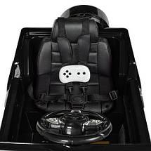 Электромобиль для детей Bambi M 2788EBLRS-2 черный кожаное сиденье МР3 USB, фото 3