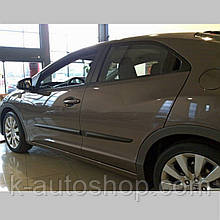 Молдинги на двері для Honda Civic 5Dr H/B 2011-2014 / lift. 2014-2017