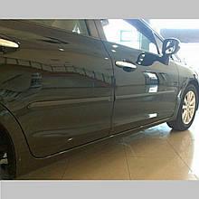 Молдинги на двері Honda Civic 4 Dr sedan 2011-2013 / lift. 2014-2016