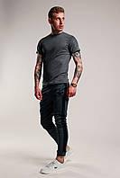 Футболка + штаны с лампасами x antracit    Комплект летний мужской, фото 1
