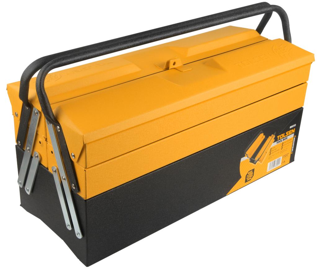 Ящик для инструментов металлический раздвижной 495x200x290 мм, Tolsen (80212)