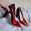 Туфлі жіночі лакові на каблуку 36р