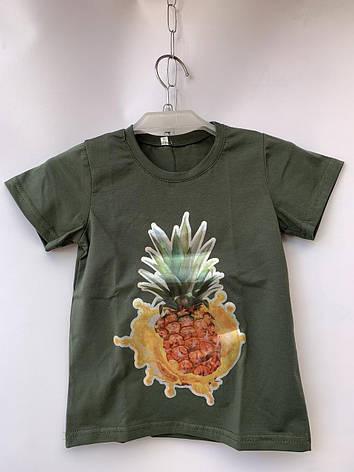 Детская футболка для девочки Ананас р. 5-8 лет, фото 2