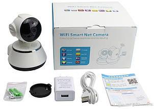 Камера видеонаблюдения WIFI Smart NET camera Q6, веб вай фай, Web камера онлайн wi-fi, с записью, фото 3