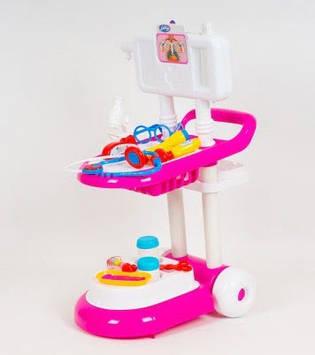 Набір лікаря: візок,молоточок,окуляри,мікроскоп,стетоскоп,у кор-ці,52х43х16см №13244(6)