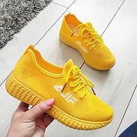 Кросівки жіночі жовті текстильні, фото 1