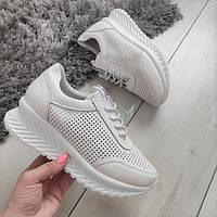 Кросівки білі жіночі натуральні шкіряні, фото 1