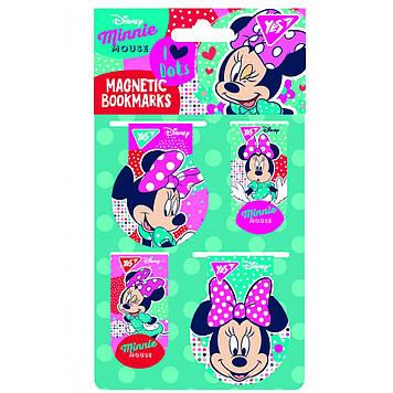 """Закладка магніт. """"Yes"""" №707399 Minnie Mouse 4шт(50)"""