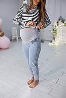 666815 Джинси для вагітних на резинці збоку блакитні, фото 1