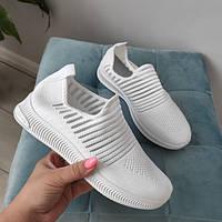 Кросівки жіночі білі текстильні