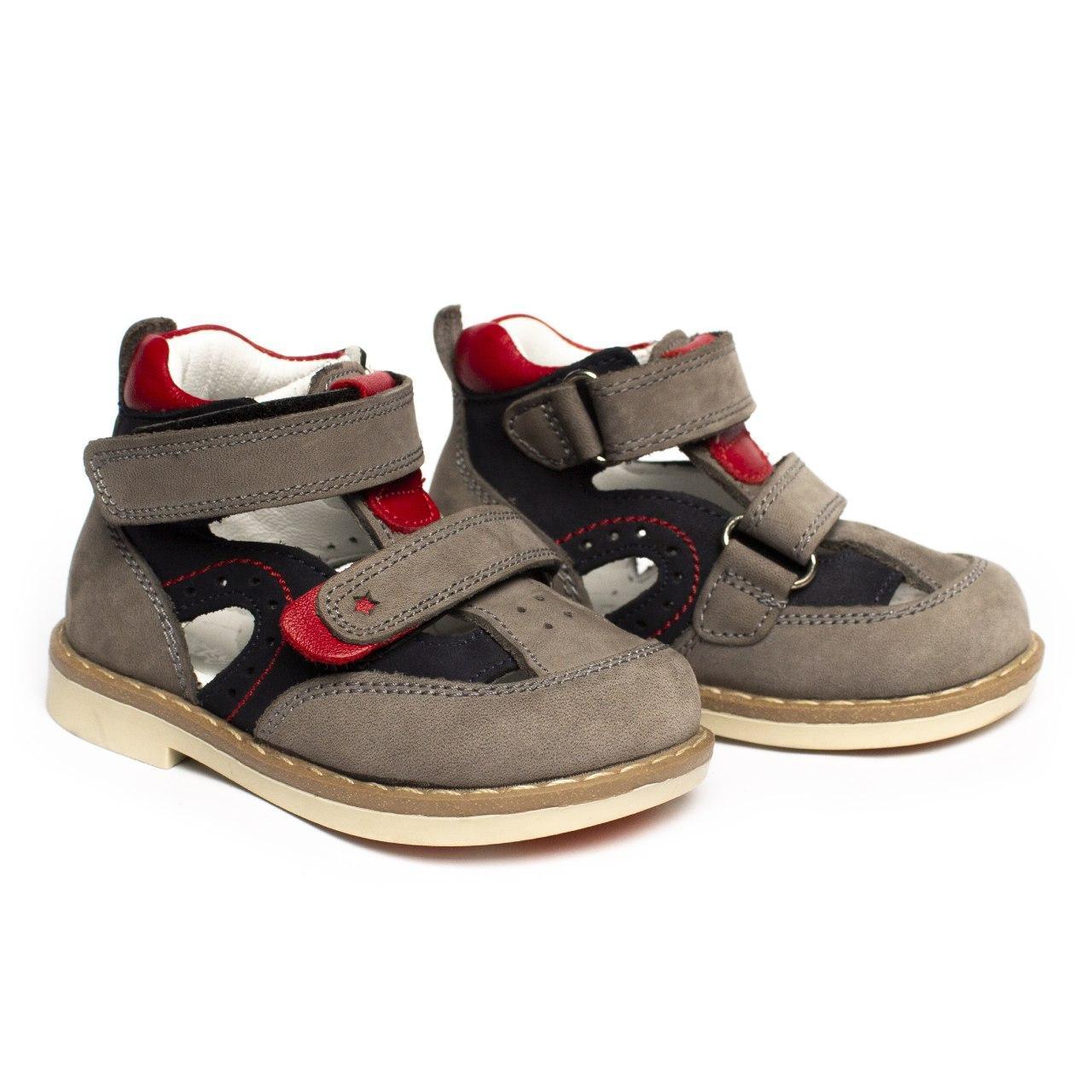 Шкіряні ортопедичні черевички для хлопчика, розміри 18