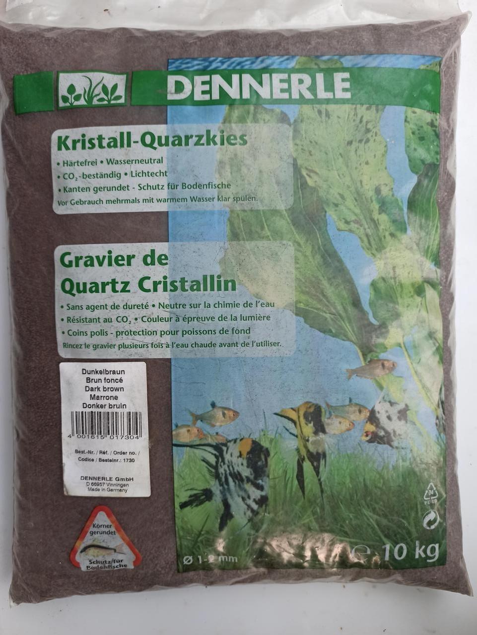 Грунт для аквариума Dennerle Crystal Quartz GravelDark Brown 10 кг