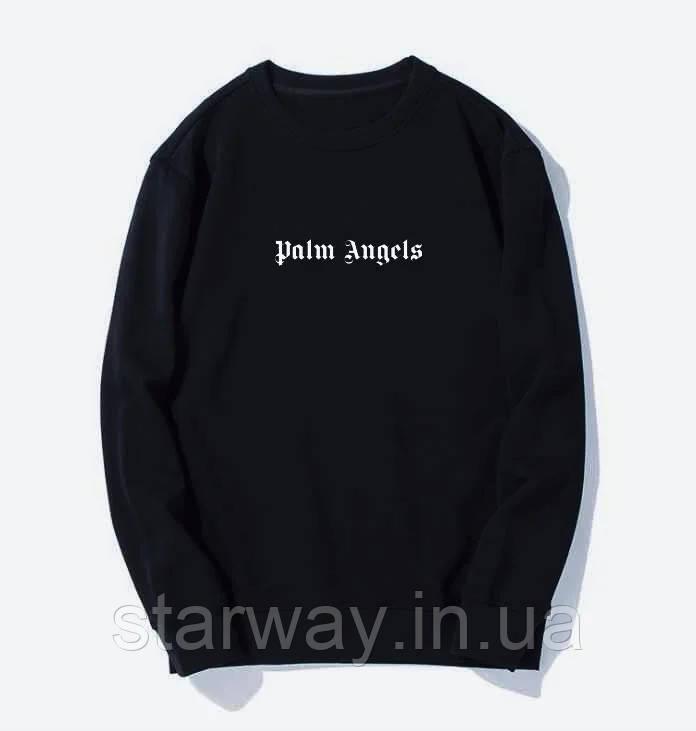 Світшот в стилі Palm Angels   кофта з логотипом палм энджелс