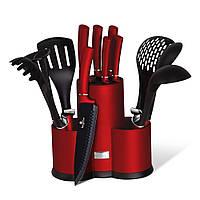 Набір кухонних приладів 6 пр і ножів 5 пр з підставкою, 12 пр - BH 6248 - BERLINGER HAUS