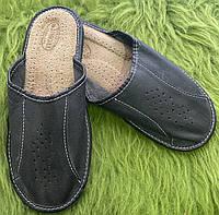 Домашние мужские кожаные тапочки, 41 размер