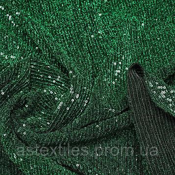 Паєтки з люриксом на трикотажі (зелені)