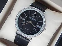 Женские кварцевые наручные часы Patek Philippe на кожаном ремешке, фото 1