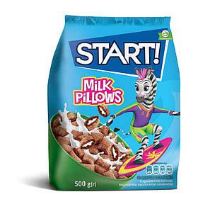 Подушечки з молочною начинкою 500г START!