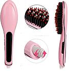 Електрична гребінець-випрямляч FAST HAIR STRAIGHTENER hqt-906 / масажна щітка для волосся і праску ОПТ, фото 3