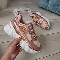 Кросівки жіночі пудрові, фото 1