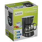Краплинна кавоварка електрична A-PLUS кавомашина крапельного типу, фото 4